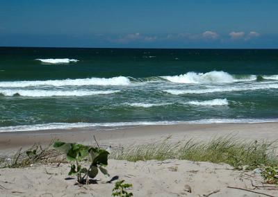 Plaża w Wiciu, na wysokości naszych domków